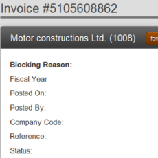 SAP Blocked Invoices Mobile